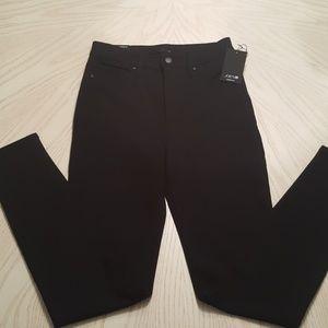 "Joe's ""High Rise Skinny Ankle"" Black Jeans"